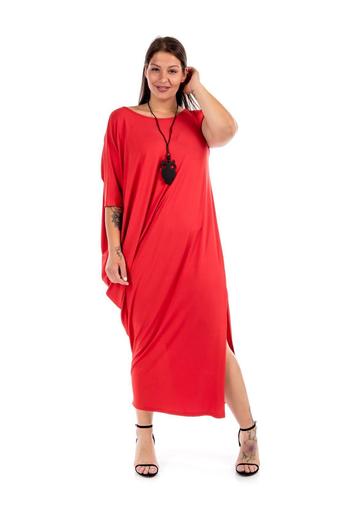 Φόρεμα με ασύμετρο μανίκι