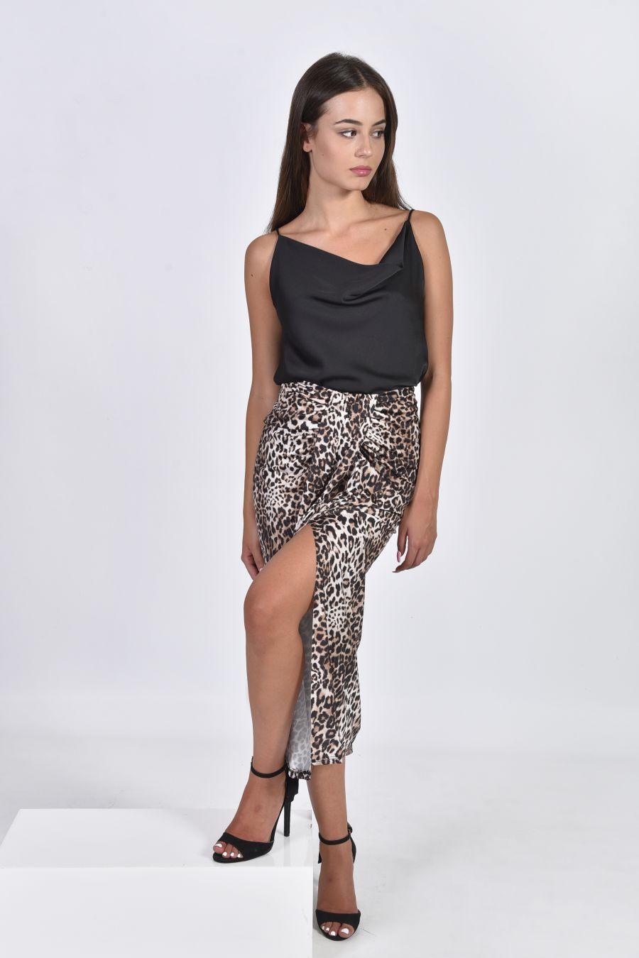 Animal print φούστα - παρεό