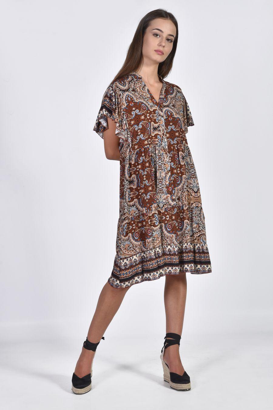 Mini εμπριμέ φόρεμα
