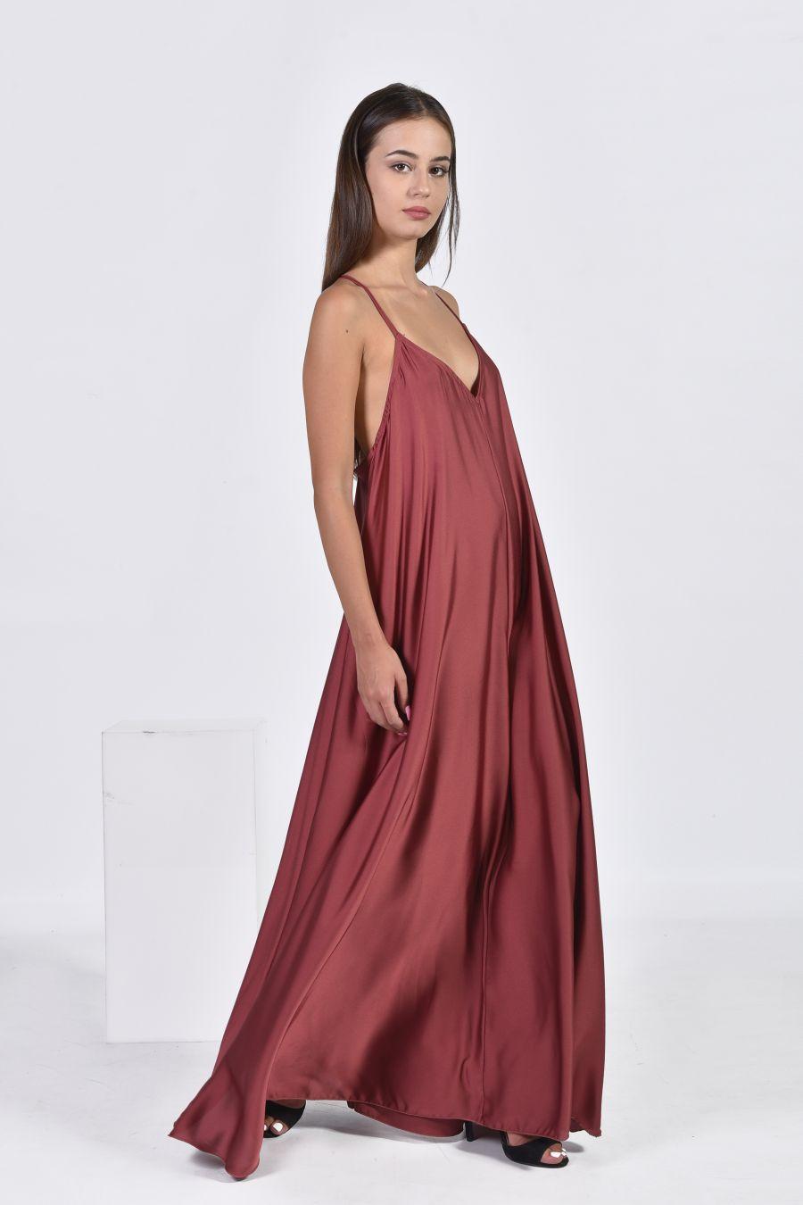 Lingerie maxi monochrome φόρεμα