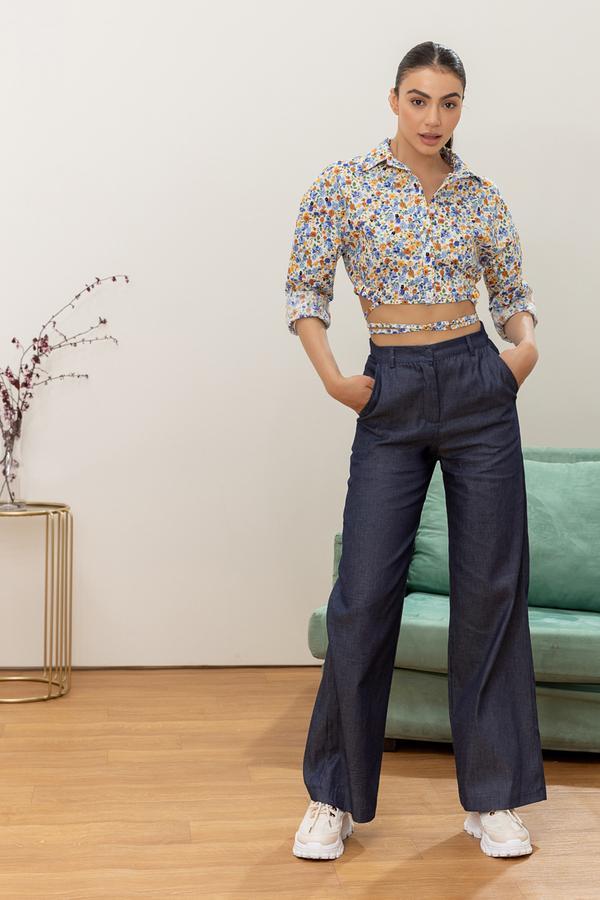 Wide high waist jean