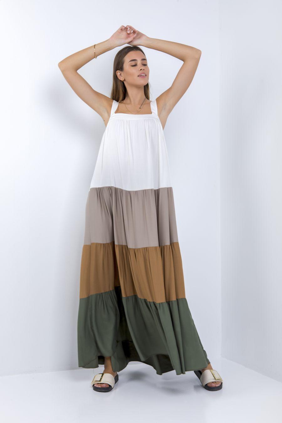Μακρύ πολύχρωμο φόρεμα