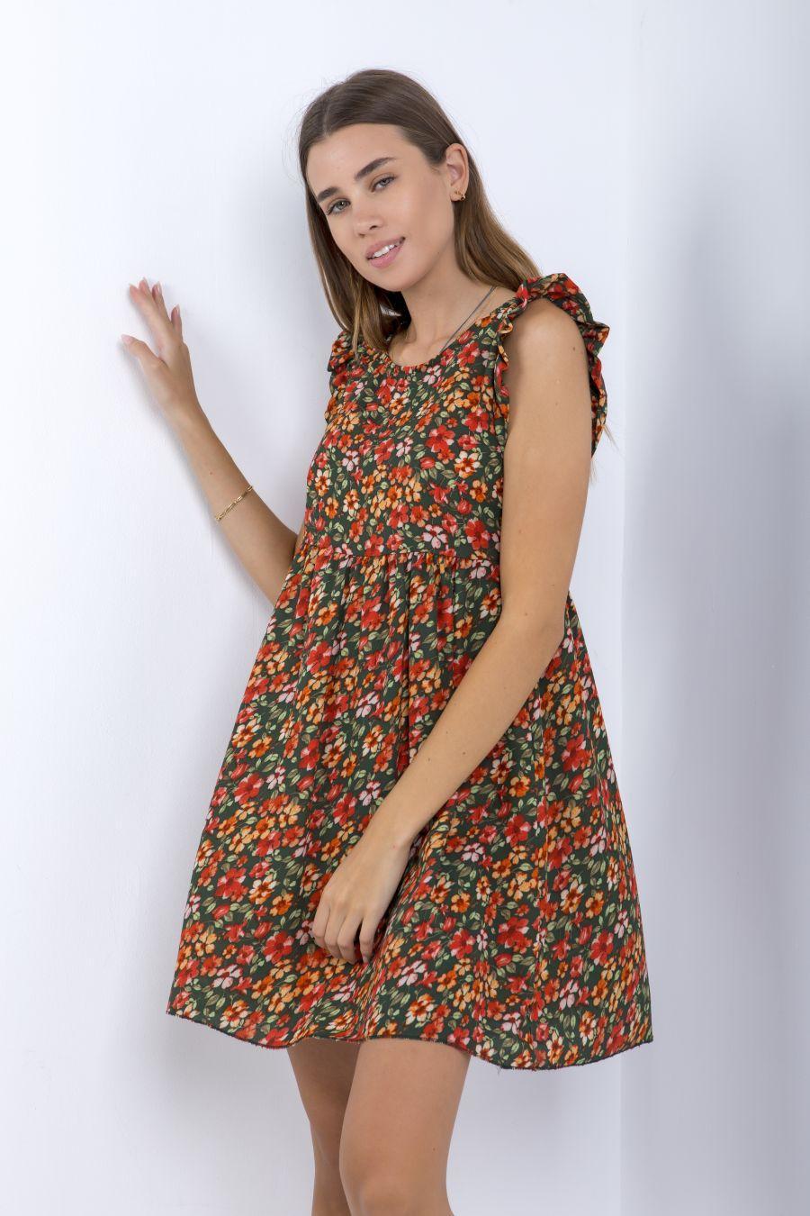 Mini floral φόρεμα